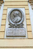 Memorial plaque Kutuzov in Brno Stock Photo