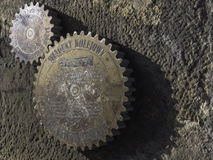 Gears on the wall Stock Image