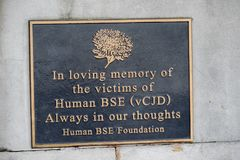 Free Memorial Plaque To The Victims Of Hums BSE VCJD Royalty Free Stock Photos - 101308748