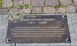 Memorial plate of Robert Wilhelm Royalty Free Stock Photos