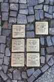 Memorial plates in Berlin Stock Image
