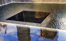 911 Memorial Pool Fountain Waterfall New York NY Royalty Free Stock Photos