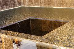 911 Memorial Pool Fountain Waterfall New York NY Stock Photography