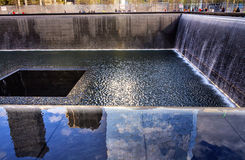 911 Memorial Pool Fountain Waterfall New York NY Royalty Free Stock Photography