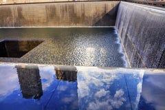 Memorial Pool Fountain Waterfall New York NY Stock Image