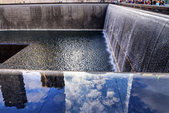 Memorial Pool Fountain Waterfall New York NY Royalty Free Stock Photo