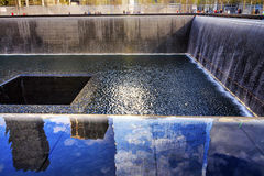 9Memorial Pool Fountain Waterfall New York NY Stock Photography