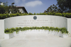 Memorial with Reagan quotation. At the Ronald W. Reagan Presidential Library Stock Photography