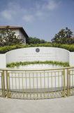 Memorial with Reagan quotation. At the Ronald W. Reagan Presidential Library Royalty Free Stock Photography