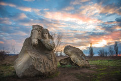Memorial in reservation Royalty Free Stock Photo