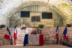 Memorial room fort Douaumont. Battlefield of First World War One Stock Image