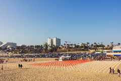 Memorial at Santa Monica beach Royalty Free Stock Photo