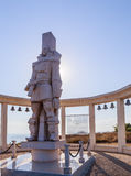 A memorial sculpture of the Russian Admiral F.F. Ushakov. Cape Kaliakra, Bulgaria Stock Photos