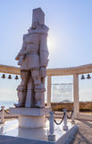 A memorial sculpture of the Russian Admiral F.F. Ushakov. Cape Kaliakra, Bulgaria Royalty Free Stock Images
