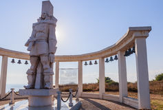 A memorial sculpture of the Russian Admiral F.F. Ushakov. Cape Kaliakra, Bulgaria Stock Photography