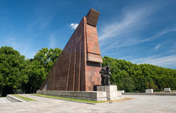 Memorial of the second world war. And russian soldiers in Treptower park, Berlin Royalty Free Stock Photos