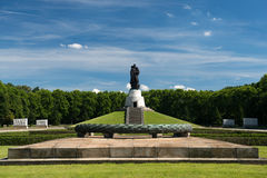 Memorial of the second world war. And russian soldiers in Treptower park, Berlin Stock Image