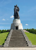 Memorial of the second world war. And russian soldiers in Treptower park, Berlin Royalty Free Stock Photo