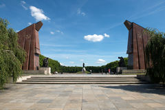 Memorial of the second world war. And russian soldiers in Treptower park, Berlin Royalty Free Stock Image