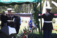 Memorial Service for fallen US Soldier, PFC Zach Suarez, Honor Mission on Highway 23, drive to Memorial Service, Westlake Village, Stock Photos
