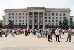Memorial service in Odessa devoted to the victims Royalty Free Stock Images