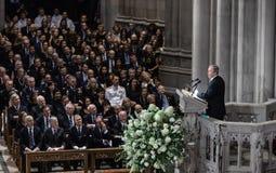 Memorial service of U.S. Senator John McCain stock images