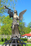 The memorial sign. PRAVDINSK, KALININGRAD REGION, RUSSIA - MAY 7, 2015: The memorial sign Angel of Peace in the city of Pravdinsk, Kaliningrad region Royalty Free Stock Photos