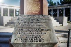 Memorial soviético em Viena imagens de stock