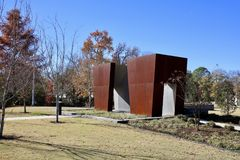 Fallen Officers Memorial Park, West Memphis Arkansas. `This memorial stands to honor and remember the brave men and women who have paid the ultimate sacrifice in royalty free stock images
