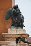 Memorial statue against the blue sky in Marostica, Italy Royalty Free Stock Photos