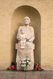 Memorial Statue in Budapest Stock Images