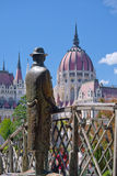 Memorial statue of Imre Nagy in Budapest, Hungary Stock Images