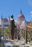 Memorial statue of Imre Nagy in Budapest, Hungary Stock Photography