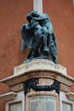 Memorial statue in Marostica, Italy Royalty Free Stock Photos