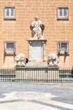 The memorial statue of Nicholas Zammit in Vallette. Malta. Royalty Free Stock Images
