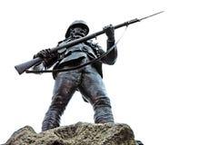 Memorial statue of soldier. In Belfast, Northern Ireland stock images