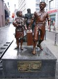 Memorial statue to the memory of the `Kindertransport royalty free stock photo