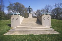 Memorial and statue of William F. Vilas, Lt. Col. commanding the 23rd Wisconsin Infantry at Seige of Vicksburg Stock Images
