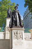 Memorial statues of King George VI and Queen Elizabeth the Queen Mother Royalty Free Stock Image