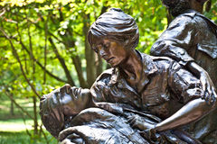 Memorial statues to Vietnam war stock images