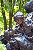 Memorial statues to Vietnam war Women Nurse. In Washington DC Royalty Free Stock Image