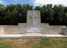 Memorial stone at Anzac Cove Gallipoli Stock Photography