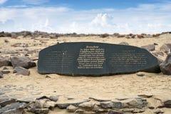 Memorial stone for Diogo Cao on Cape cross Stock Photo