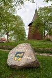 Memorial stone in Hittfeld town Royalty Free Stock Image