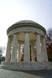 Memorial Structure. World War Memorial in Washington DC. Wide angle shot of the marble structure Royalty Free Stock Photo
