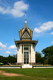 The memorial stupa of the Choeung Ek. Killing Fields filled with the skulls of the victims of the Pol Pot regime, Phnom Penh, Cambodia Stock Image