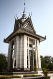The memorial stupa of the Choeung Ek Killing Fields, Cambodia Royalty Free Stock Photo