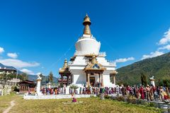 The Memorial Stupa, or Thimphu Chorten - Bhutan royalty free stock image