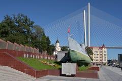 Memorial Submarine Museum S-56 in Vladivostok, Primorsky Krai in. Russia, Vladivostok, 26,08,2016 Memorial Submarine Museum S-56 in Vladivostok, Primorsky Krai Stock Photos