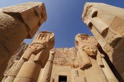 Memorial Temple of Hatshepsut. Luxor, Egypt. Relief pillars in the Memorial Temple of Hatshepsut. Luxor, Egypt stock images